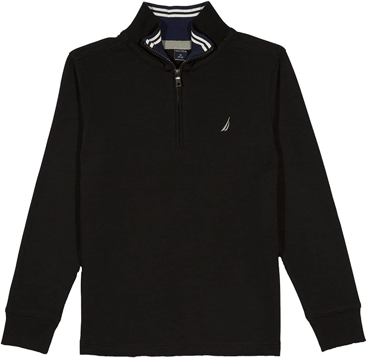 Nautica Boys' Lightweight Long Sleeve Quarter Zip Shirt