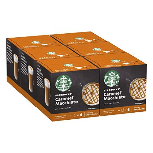 Starbucks Caramel Macchiato De Nescafe Dolce Gusto Cápsulas De Café 6 X Caja De 6+6Unidades