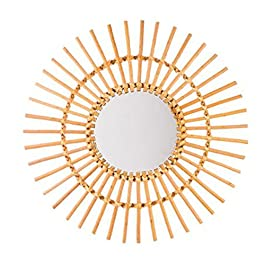 PEGANE Miroir en rotin Soleil – Dim : D 58 cm