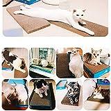 1yess Cat Scratch Cartón Ondulado Gatos de Papel Junta Gatito arañazos Juguete Cama arañazos Mat Garras Cuidado de Pulido Uñas de Gato de Juguete Interactivo (Color : A)