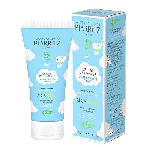 Laboratoires de Biarritz - Crème de Change Pour Bébé - ALGA NATIS® Certifié Bio - Apaise et Protège la Peau de Bébé, Prévient les Irritations - 75 ml - Fabriqué en France