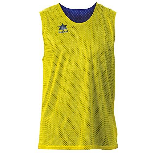 Luanvi Triple Camiseta Reversible Deportiva, Hombre, Amarillo/Azul, XL