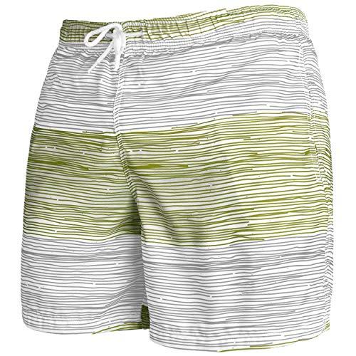 Occulto Herren Männer Badehose in vielen Farben | Badeshort | Bermuda Shorts | Beachshort | Slim Fit | Schwimmhose | Boardshort | Jungen (M, Grau/Grün)