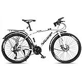GAOTTINGSD Bicicleta de montaña Montaña de la Bici Adulta del Camino de MTB de Bicicletas Bicicletas de la Velocidad Ajustable for Hombres y Mujeres de 26 Pulgadas Ruedas Doble Freno de Disco