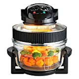 Large 17 Litre Capacity 1400W Electric Multi Function Halogen Oven Low Fat Air Fryer with Self Cleaning Function