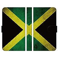 ブレインズ AQUOS sense5G SH-53A SHG03 手帳型 ケース カバー 国旗 ジャマイカ グランジ ヴィンテージ 人気
