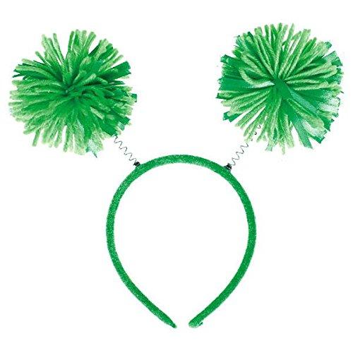 Amscan Pom Pom Headbopper, Party Accessory, Green