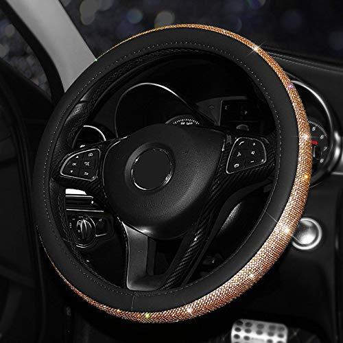MKDASFD Fundas para volante de coche Cubierta del volante del coche de...