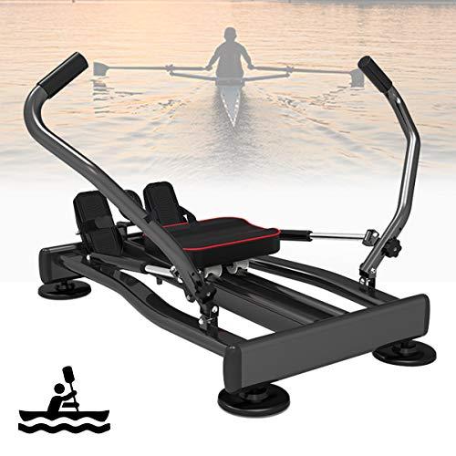 Ycrdtap Remo Gimnasio Rowing Machine Remo Estatico Aparatos De Gimnasia, Maquina De Remos, Pantalla