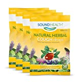 SoundHealth Cough Drops,Cough Suppressant Throat Lozenge, Natural Herbal Flavor, 50 Count Bag (Pack of 4)