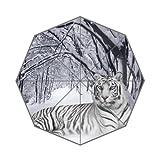 Gespiegelt Sommer weiß Tiger in