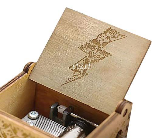 Cuzit Harry Potter Caja de música, Caja de Madera con manivela Antigua Tallada a Mano, Caja Musical de Madera, Creativa artesanía de Madera, niños, Amigos