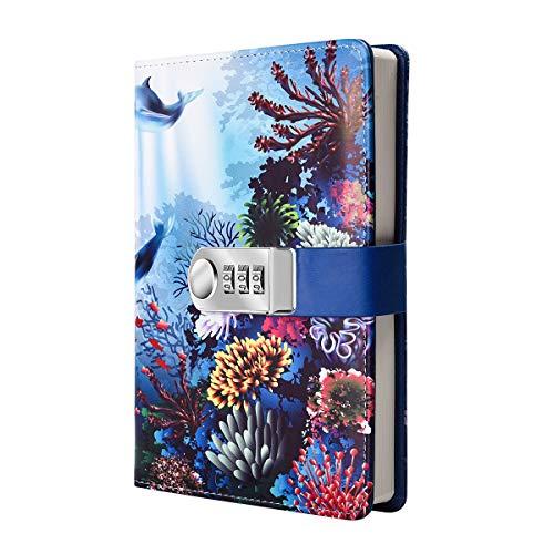 Tagebuch mit Zahlenschloss, Reisetagebuch, Planer, Organizer, digitales Passwort, Notizbuch mit Verriegelung (Stil 3)