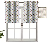 Cortina opaca con ojales en la parte superior, diseño diagonal, 137 x 45,7 cm, tratamiento de ventana para sala de estar, cenefa corta recta