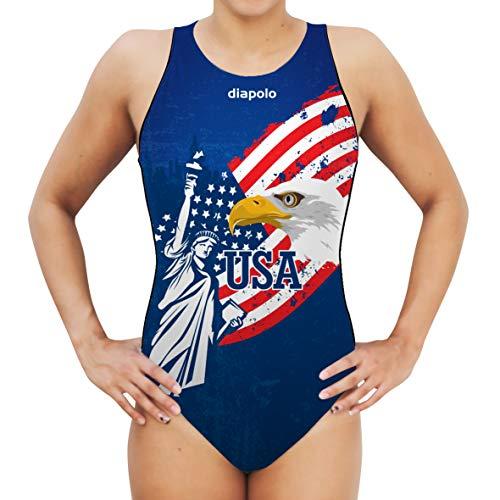 Diapolo USA Women's Water Polo Badeanzug Professionelles Kleid für angenehmes Tragegefühl S, M, L, XL, XXL (XL)