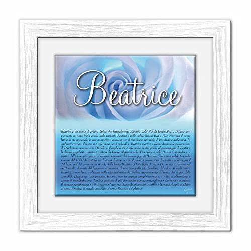 Lupia Quadro mattonella Ceramica Modern White 29x29 cm con significato del Nome Beatrice