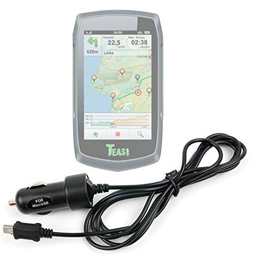 DURAGADGET Chargeur Allume-Cigare Voiture pour Teasi One   One2   One3   Pro   Pro Pulse   Volt GPS de randonnée pédestre ou Cycliste - Mini USB