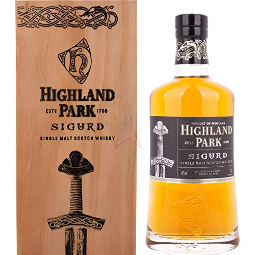 Highland Park SIGURD Single Malt Scotch Whisky in Holzkiste 43,00% 0,70 lt.
