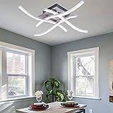 Lámpara LED de techo de cuatro puntas con forma de onda curvada especial para dormitorio, balcón, salón, iluminación de vivienda