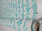 Loneta estampada Peces color Verde [Bonita loneta por metros para tapizar sofás o cortinas]{100CMx280CM}