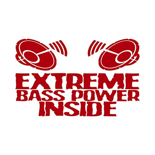 Extreme Bass Power Inside Aufkleber Musik Subwoofer (Rot)