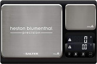 Salter 1049a HBBKDR Balance de cuisine Heston Blumenthal haute qualité finitions en acier inoxydable double plateforme – d...