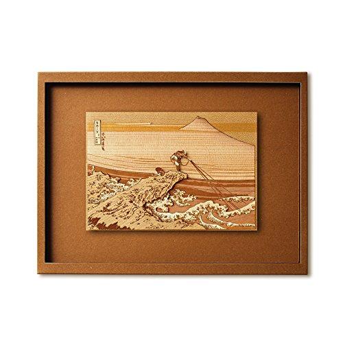 KINOWA 「甲州石班沢」 木はり絵 オリジナル 手作り キット 浮世絵 北斎 富嶽三十六景 日本製