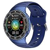 HQPCAHL Smartwatch Hombre Mujer 1.28'Full Touch Reloj Inteligente con Pulsómetro, Monitor De Oxígeno De Sangre, Monitor De Sueño, Fitness Tracker Deportivo Impermeable IP68 para iOS Android,Azul