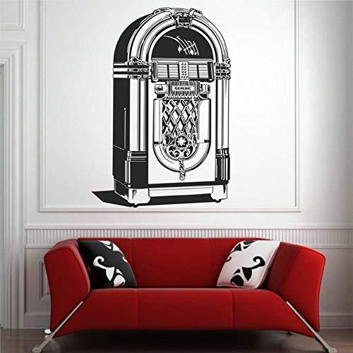 Pegatinas de pared de vinilo y murales de Juke Box | Vinilo decorativo para pared | Mural extraíble para decoración del hogar para dormitorio, sala de estar, guardería en interiores.