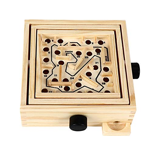 OhLt-j El Laberinto de Juguete, de Madera Juego de Laberinto intelecto Puzzle Juego de Solitario Laberinto Juego Juguete Educativo for niños y Adultos