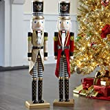 BrylaneHome Christmas Wooden Nutcracker Christmas Decoration, Red