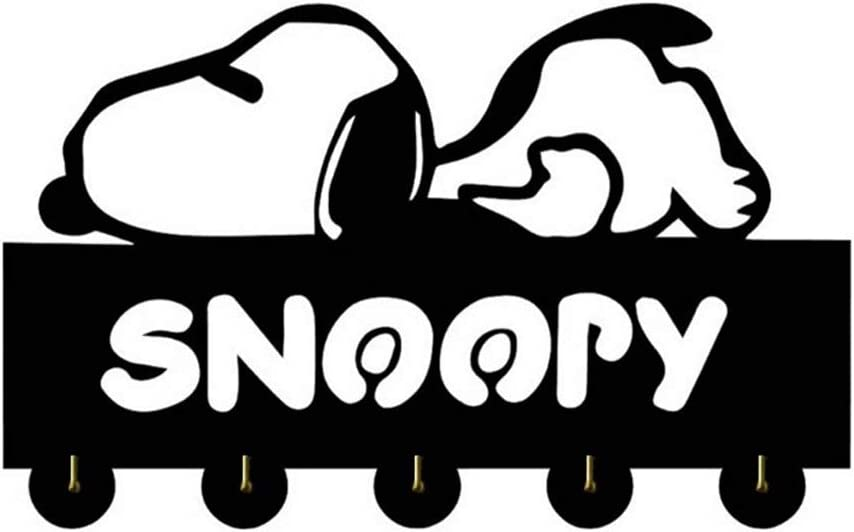 Nero ANMY Snoopy Design in Legno Hanger Unico dei Vestiti del Regalo Cappello Chiave Gancio//Coat Rack//Wall Hook Home Decoration Adesivi murali Cucina Bagno Asciugamano Hook Color : A