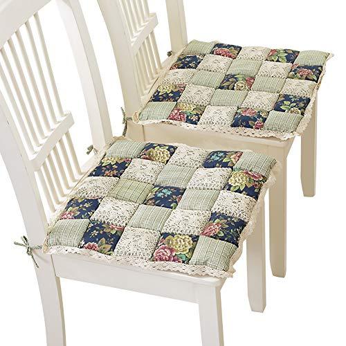 SOFIL Juego de 2 Cojines de Asiento de 42 x 42 cm,Cojines para sillas de jardín,balcón,terraza