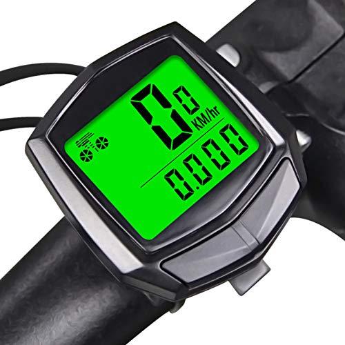 KKmoon Fahrradcomputer Kabellos, 15 Funktionen wasserdichte LCD Digital Geschwindigkeit Fahrradtacho Radcomputer Tacho,Wirelesser Fahrradtacho für alle Fahrrad