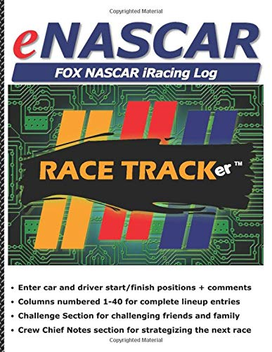 eNASCAR FOX NASCAR iRacing Log: Race Log and Driver Stats - 40 car lineup for each race. Enter Driver start/finish positions, add comments, challenge ... + notes section for strategies. Fun for all!
