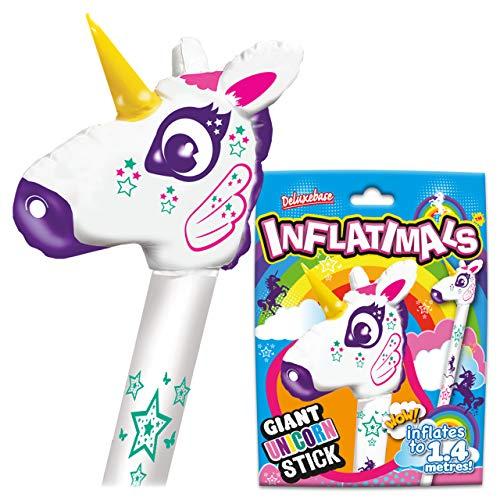Deluxebase Inflatimals - Unicorno. Unicorno Gonfiabile Gigante Esplosione Magica Unicorn Toy. Fa Il Regalo Animale Gonfiabile Perfetto del Partito! Arcobaleno Fantastico Unicorn Toys per Le ragazz