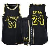 CHYSJ Kobe # 24 Baloncesto Jersey, 2020 Campeonato Lakers Basketball Jersey, Malla Transpirable 2xs-5xl Hip-Hop Fiesta Ropa XS