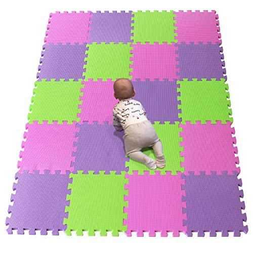 YIMINYUER Alfombra puzles para Bebe Puzzle Infantil Suelo Piezas Goma eva ninos de Suelo Grande Infantiles Rosado Púrpura Pastoverde R03R11R15G301020