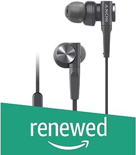 (Renewed) Sony MDR-XB55AP Premium in-Ear Extra Bass Headphones with Mic (Black)