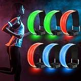 Sporgo LED Armband, 6 Stück Reflektorband LED Leucht...