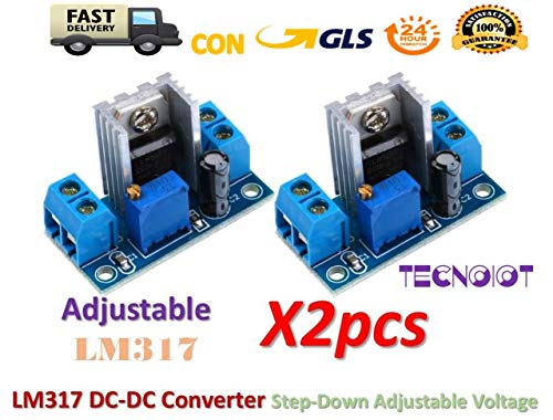 2pcs LM317 DC-DC Converter Adjustable Linear Regulator Step Down Circuit Board