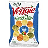 One 7 oz. bag of Sea Salt Garden Veggie Chips Made with garden-grown potatoes and vegetables 30% less fat than the leading brand of potato chips 0mg cholesterol and 0g trans fat per serving Certified Kosher and gluten-free