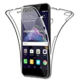 SDTEK Coque pour Huawei P8 Lite (2017) 360 Degres Protection Integral [Transparente Gel] Full Body Silicone Case Cover Clair pour Huawei P8 Lite (2017)