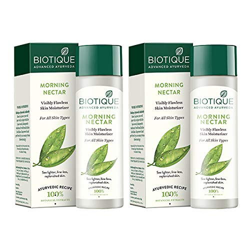 Biotique Bio Morning Nectar Lotion for All Skin Types, 120ml (Pack of...