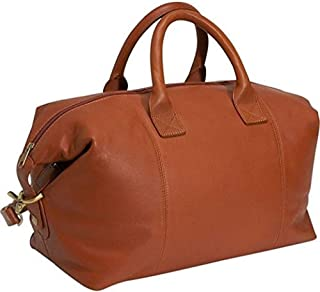 Royce Leather Luxury Overnighter Duffel Bag Luggage Handcrafted in Leather, Tan, One Size