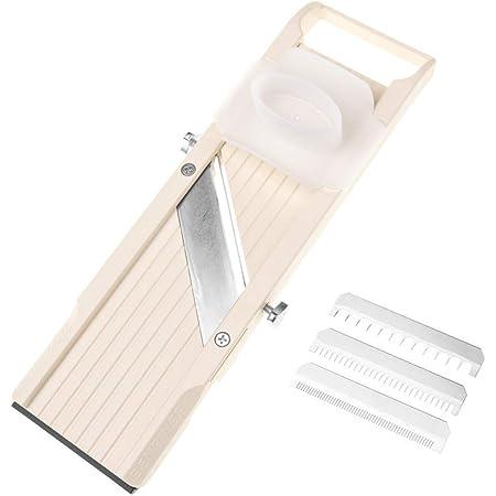 Benriner 64W Mandoline coupe-légumes, plastique ABS, Blanc
