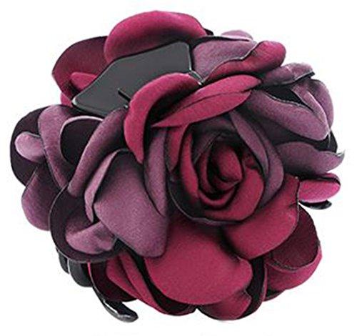 Fleurs/cheveux Barrette pince à cheveux pour les femmes/Lady/Girls Hair Ornament, rouge # 22