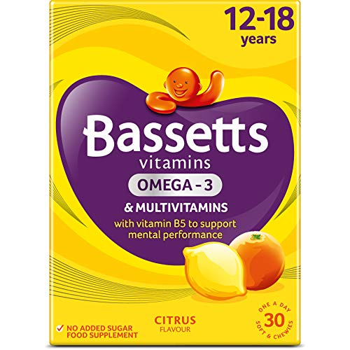 Bassetts Vitamins 12-18 Years Multivitamins Omega 3 Citrus 30's, 99.2 g