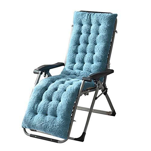 Sonnenliege Kissen dicker Schaukelstuhlauflage Indoor Universal Sitzkissen Weiche einteilige Stuhlauflage Relaxer Stuhl Sitzbezug für Reisen/Urlaub/Indoor/Outdoor, blau - peacock blue, 160*50*12