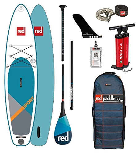 Red Paddle Co 2018 Sport 12'6 Inflatable Stand Up Paddle Board +...